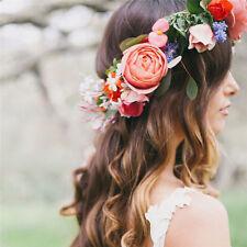 Boho Floral Flower Crown Headband Hair Garland Wedding Party Headpiece HGZT