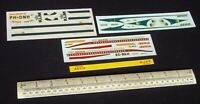 *1960s/70s Vintage Revell Decals x 3 (No Kit) for Douglas DC-9 Airliners (C297)