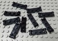LEGO New Lot of 10 Black 1x2 Creator Plates with 2 Side Bar Handles