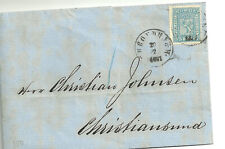 Norway. Classic stamp on envelope.20.2.1867