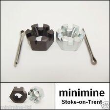 Classic Mini Rear Hub Castle Nut PAIR L/H & R/H NL610041 FNN2410 near off side
