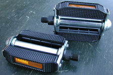 "Schwinn Stingray Bicycle Pedals Vintage Cruiser Bike Block Pedal 1/2"" Late Krate"