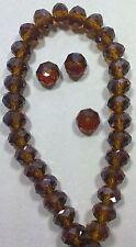 10 PERLE AMBRA BOREALE 8 mm MEZZI CRISTALLI SFACCETTATI beads BIGIOTTERIA