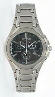 Citizen Eco-Drive Men's Titanium Chronograph Date Calendar 42mm Watch AT0940-50F