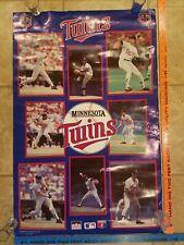 Vintage 1987 Minnesota Twins Poster World Series Champs Puckett RARE