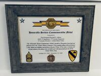 Military Commemorative~ Honorable Service Commemorative Medal Certificate