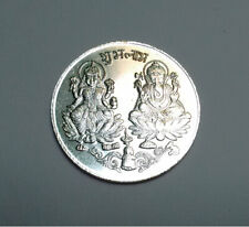 Shubh Labh Coin Laxmi Ganesh Coin To Increase Your Business Silver Color