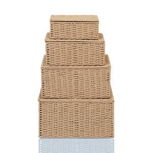 Storage Hamper Basket Boxes Set Of 4