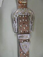 Remington Belt Buckle Bling Single Ear Headstall - BROWN - FULL -NWT