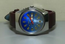 Vintage Ricoh Automatic Day Date Mens Stainless Steel Wrist Watch Old Used r250
