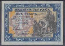 BILLETE ESPAÑA - 1 PESETA AÑO 1940 - HERNAN CORTES - SIN SERIE SIN CIRCULAR