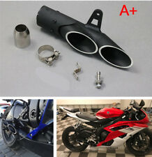 Motorcycle Street Bike Modified Dual-outlet Exhaust Pipe Tail Tip 38-51mm Left