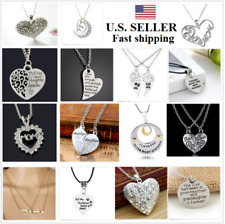 Heart Family Mom Daughter BFF Pendant Necklace Women Fashion Jewelry Gifts US