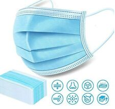 NEW 50 pcs  protective  face mask 3-layer face cover STOCK