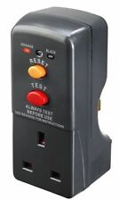 Masterplug ARCDKG RCD Plug-in Adapter Circuit Breaker Safety Trip Switch Garden