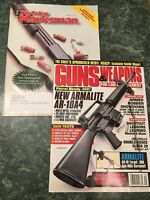 guns and weapons for law enforcement **Two magazines** And The Marksman 2000