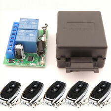 Wireless 433mhz Remote Control Switch DC 12V 10A 2ch Relay Receiver Transmitter