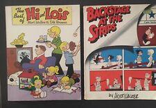 2 books by Mort Walker, Best of Hi & Lois,Backstage at the Strips SC
