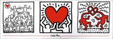 Keith HARING Hearts & Dancers Graffiti Style Pop Art Litho Print