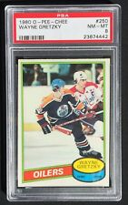 1980-81 OPC Set - #140 Bourque, #289 Messier, #250 Gretzky, #195 Gartner - PSA 8