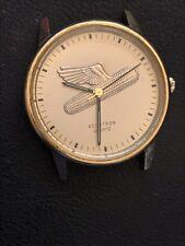 Vintage Accutron Mens Quartz Watch Rare Dial Gold Tone