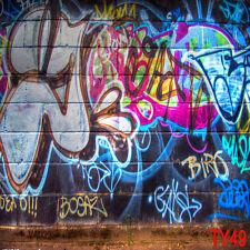 CP Graffiti Wall Vinyl Photography Background Backdrop Studio Prop 5X7FT TY49