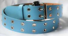 Damengürtel Herrengürtel Nietengürtel Ösengürtel Gürtel GR 120 Blau 2 Dorn