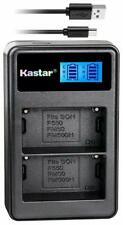 KASTAR ~ LCD DUAL BATTERY CHARGER FOR SONY KONICA MINOLTA ~ LCD2-NPF550