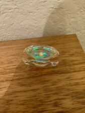Oleg Cassini Crystal Oyster with Pearl Paperweight boxed