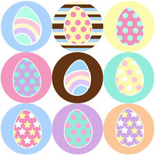 144 Easter Eggs 30mm Children's Reward Stickers for Teachers, Spring Party Bags