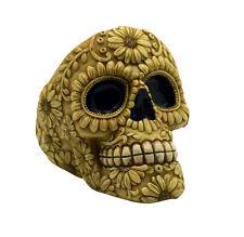 Bone Colored Day of the Dead Sugar Skull Tall Ashtray Mexican Dia De Los Muertos
