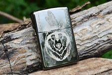 Zippo Lighter - Indian Wolf - Spirit - Headress - Timberwolf - Black Ice 854024