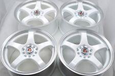 16 white Wheels Rims Civic Matrix Corolla Elantra Soul Neon Accord 5x100 5x114.3