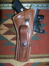 "Ruger MK III IV 6"" Barrel w Red Dot Sight Scope Holster Mag Pouch Used Brown exc"