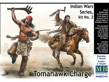 CHARGE AU TOMAHAWK, Guerre Indiennes - KIT MASTER BOX 1/35 n° 35192