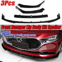 For 2019 2020 Mazda 3 Sedan Axela Bright black Front Bumper Lip Body Kit Spoiler