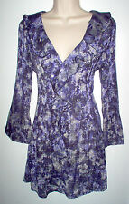 WOMENS TUNIC TOP SIZE SMALL MULTI COLOR STRETCH NEW LOW SHIP