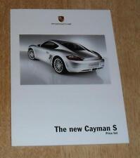 Porsche Cayman S Price List / Option / Specification Brochure 2005