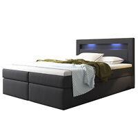 Lit d'Hotel Boxspring DESIGN+tiroirs+matelas Double bed 140 ou 180x200 LED L@@K