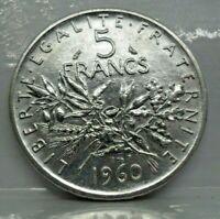 KM# 926 - 5 francs semeuse 1960 - SUP - Argent - monnaie France - N7276