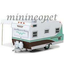 GREENLIGHT 18430 B 1964 WINNEBAGO 216 TRAVEL TRAILER 1/24 DIECAST MODEL GREEN