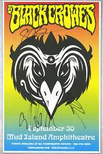 The Black Crowes  autographed concert poster Steve Gorman, Chris & Rich Robinson
