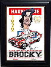 Peter Brock 1972 1st Bathurst King of the Mountain L/E Harv Time Print Framed