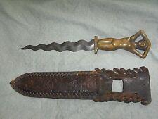 Bronze Nude Woman / Lady Handle Serpentine Knife/Dagger