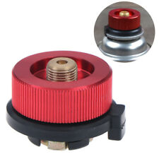 Camping Stove Butane Gas Metal Adapter Convert Fuel Canister for Long Gas Tan (