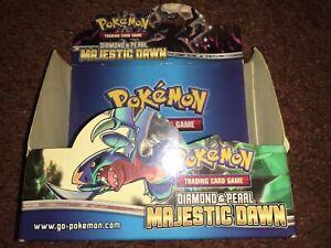 pokemon empty booster box Diamond And Pearl Majestic Dawn