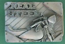 REAL STEEL Belt Buckle... Perfect for MOTORCYCLE Rider!  BRAND NEW!  (c) 1994!