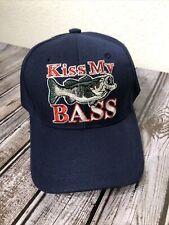 'Kiss My Bass' Baseball Cap Hat Fishing Adjustable