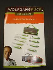 -NEW- Wolfgang Puck 10-piece Garnishing Set - Black - garde manger roll up case