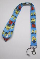 MINIONs Despicable Me LANYARD KEY CHAIN Ring Keychain ID Holder NEW